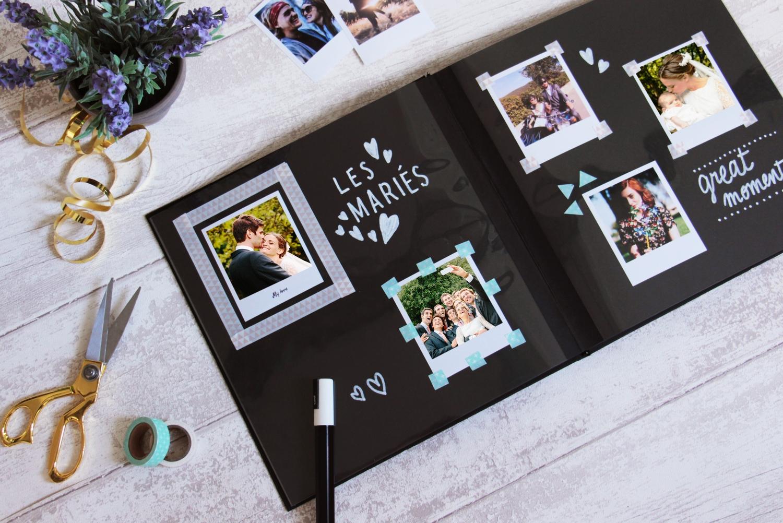 créer un album de mariage avec la wedding box Cheerz x ZankYou